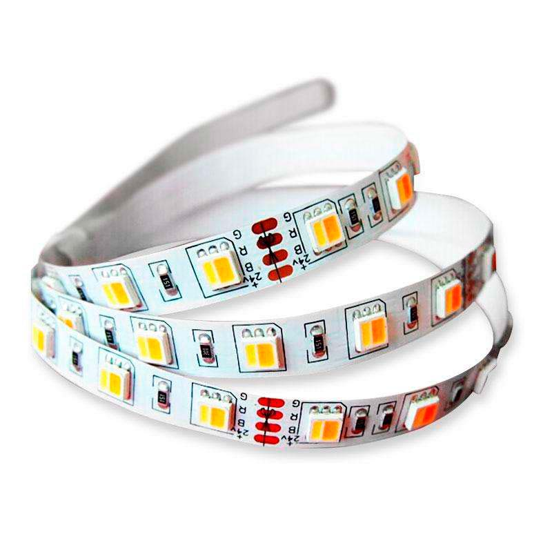 Tira LED FOOD Tricolor SMD5050, DC12V, 5m (60 Led/m) - IP67, Blanco tricolor